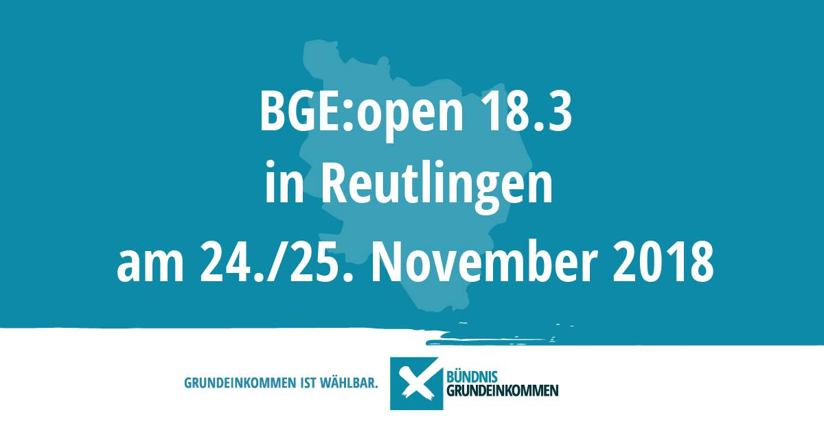 BGE:open 18.3 in Reutlingen